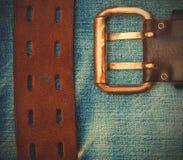 Vintage leather belt Stock Photography