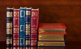Vintage leather books Stock Images
