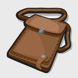 Vintage leather brown bag Royalty Free Stock Images
