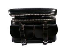 Vintage leather camera bag Stock Image