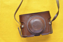 Vintage leather case Royalty Free Stock Photo