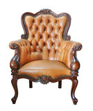 Vintage leather chair Stock Photography