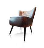 Vintage leather chair Stock Images