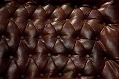 Vintage Leather Couch Background Stock Photos