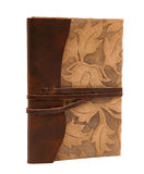 Vintage leather diary Florentine style Royalty Free Stock Images