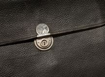 Vintage leather folder. With metal clasp Royalty Free Stock Images