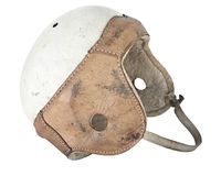 Vintage Leather Football Helmet Royalty Free Stock Images