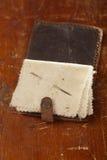 Vintage leather  Needle Book Stock Photo