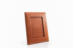 Vintage leather picture frame . Stock Photos