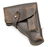 Vintage leather pistol holster Royalty Free Stock Photography