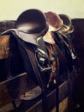 Vintage Leather Saddle Horse Stock Photos