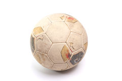 Vintage leather soccer ball royalty free stock photo