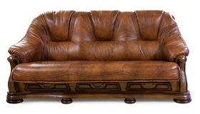 Vintage leather sofa Stock Photo