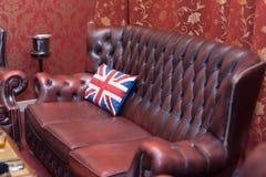 Vintage leather sofa Royalty Free Stock Image