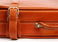 Vintage leather suitcase Royalty Free Stock Photo