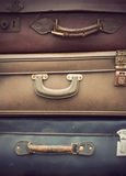 Vintage leather suitcases Stock Photography