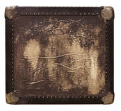 Vintage leather travel box. In rich texture Royalty Free Stock Image