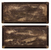 Vintage leather travel box. In rich texture Royalty Free Stock Photo