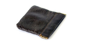 Vintage leather wallet Stock Photography
