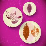 Vintage Leaves, greeting card Stock Images