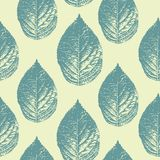 Vintage leaves seamless pattern vector illustration ready for fashion textile print and wrapping. Colorful trendy leaf nature. Theme for women fashion stock illustration