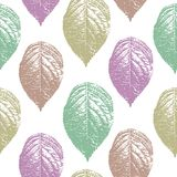 Vintage leaves seamless pattern vector illustration ready for fashion textile print and wrapping. Colorful trendy leaf nature theme for women clothing royalty free illustration