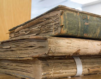 Vintage ledgers Stock Image