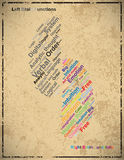 Vintage Left and Right brain abstract grunge background,  Royalty Free Stock Photography