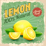 Vintage lemon Stock Images