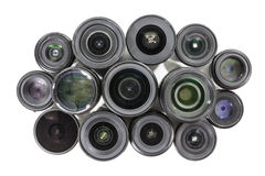 Vintage Lenses with Text Removed Royalty Free Stock Image