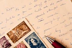 Vintage letter Stock Photo