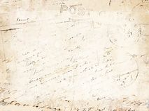 Vintage Letter Background Stock Photography