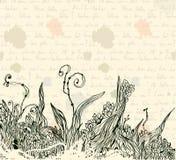 Vintage letter background Stock Images