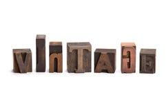 Vintage letter blocks Stock Photo