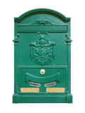 Green postbox Royalty Free Stock Photos