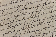 Vintage Letter. Closeup of a of a vintage handwritten letter stock image