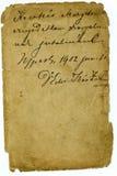 Vintage Letter Detail Stock Photo