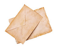 Vintage letter and envelope royalty free stock photography