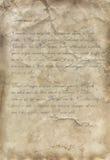 Vintage letter, old paper stock illustration
