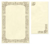 Vintage letter paper and envelope Royalty Free Stock Photography