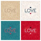 Vintage lettering design word LOVE Royalty Free Stock Images