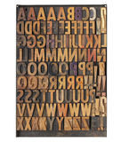Vintage letterpress printing blocks Stock Photo
