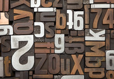 Vintage letterpress type background Stock Image