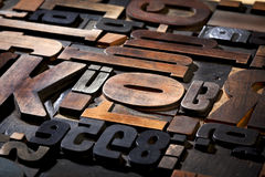 Vintage letterpress type background Royalty Free Stock Photo