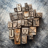 Vintage letterpress type Royalty Free Stock Image