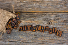 Vintage letterpress on wood Stock Photos