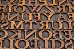 Vintage letterpress wood type abstract Royalty Free Stock Photo
