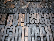 Vintage Letterpress wood type printing blocks Stock Image
