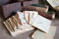 Vintage letters Royalty Free Stock Image