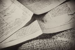 Vintage letters Stock Photos